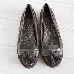 Shoes - Sperry Suede And Patent Leather Tassel Loafers